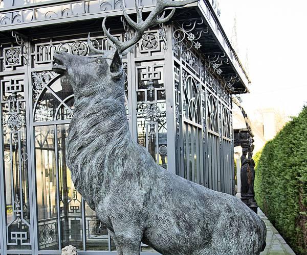 Bronzen hert