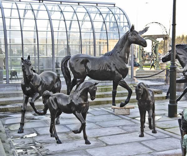 Bronzen paarden